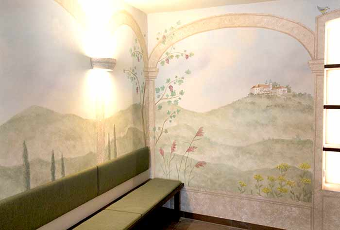 Illusionsmalerei Restaurant Da Franco Passau Kloster Mariahilf