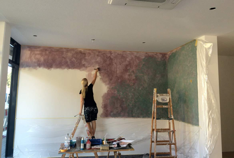 Dekorationsmalerei, Wandgestaltung