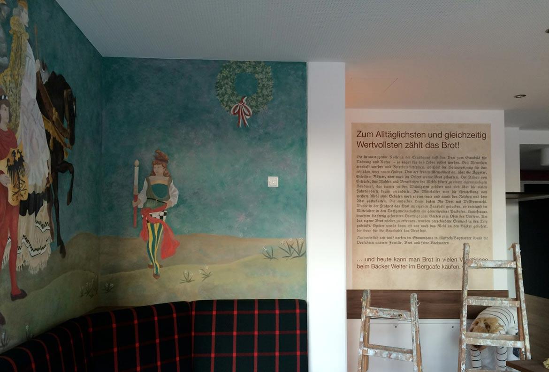 Beschriftung, Dekorationsmalerei, Wandgestaltung
