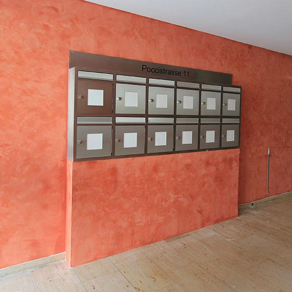 Wandgestaltung, Kalkpresstechnik
