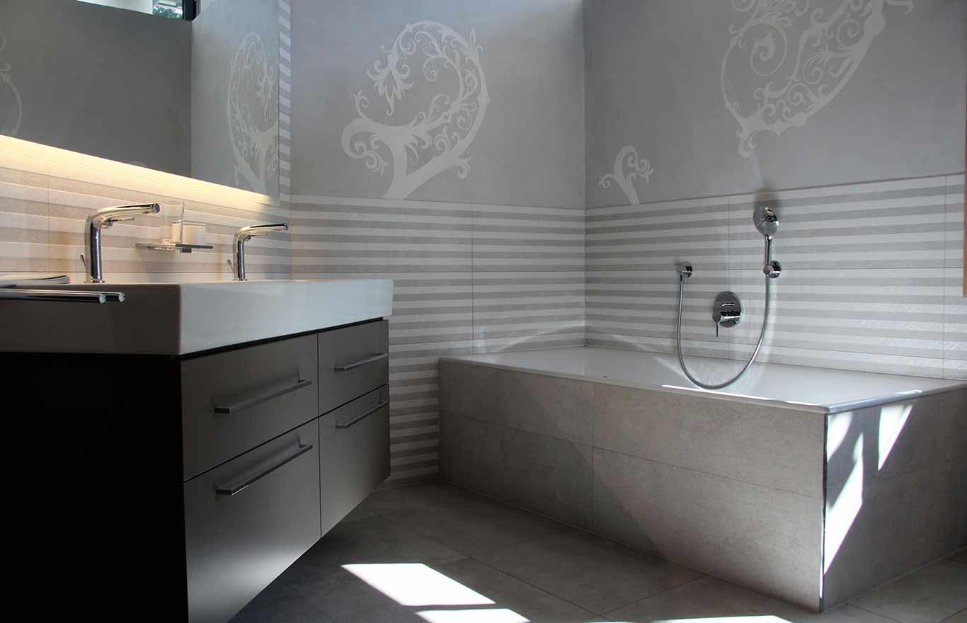 Wandgestaltung, Relief, Badezimmer