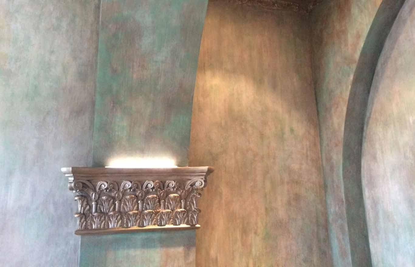 Wandgestaltung, Säulen, Vintage Shabby Chic