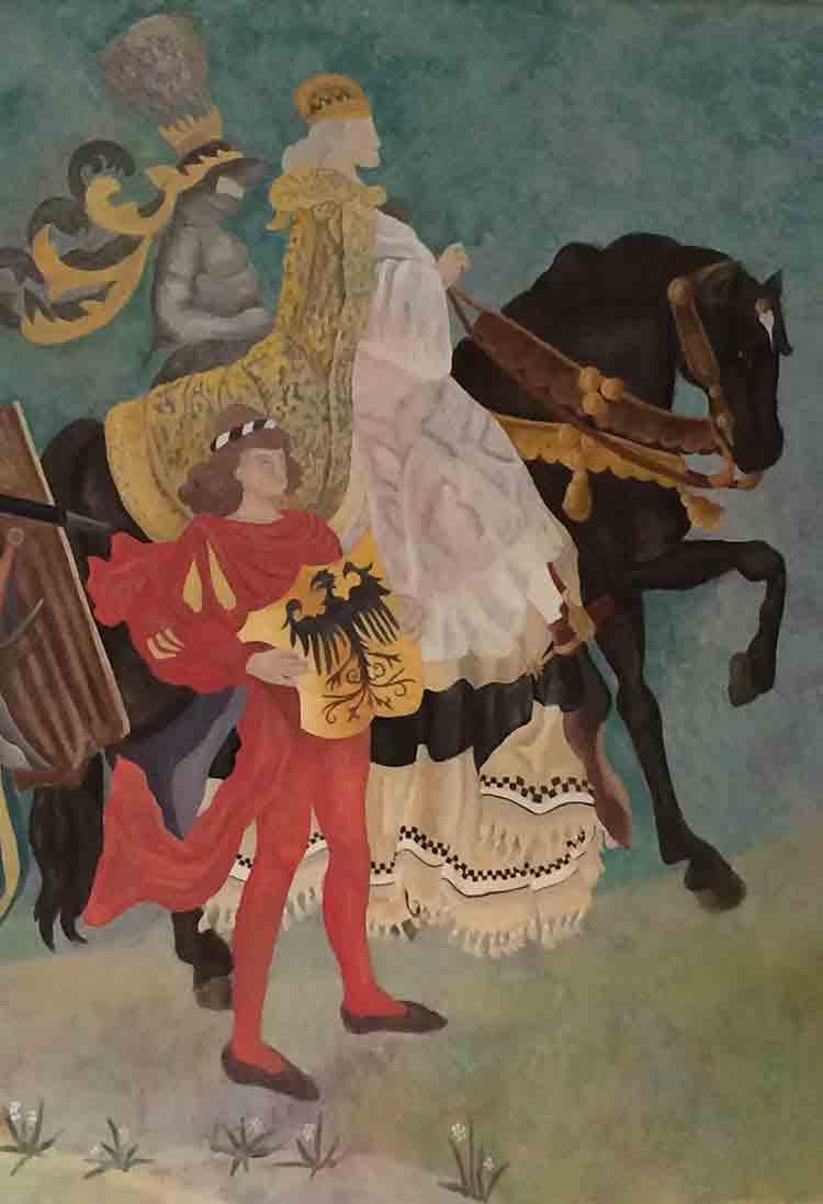 Gemalte Landshuter Hochzeit, Dekorationsmalerei