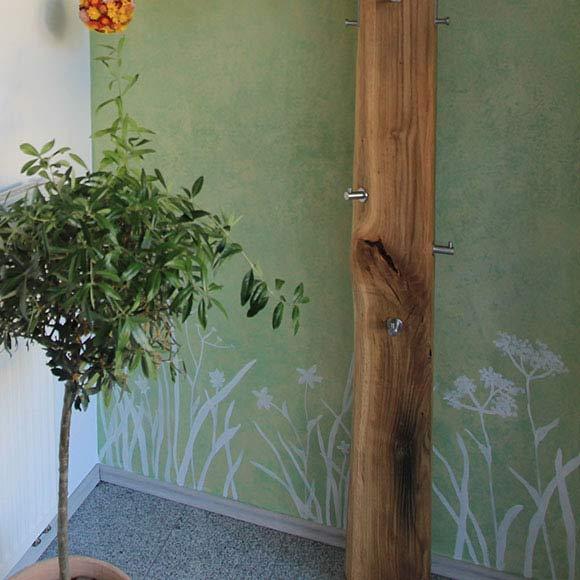 Gemalte Pflanzen, Wandgestaltung