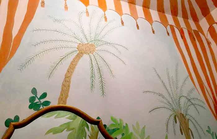 Illusionsmalerei Zelt und Dschungel